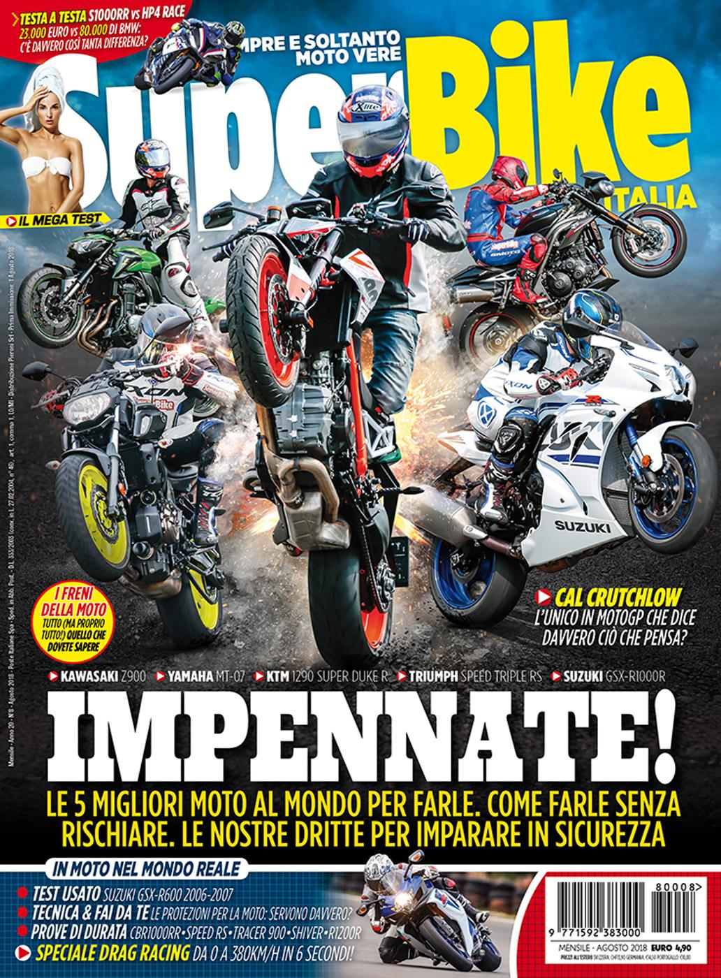 La copertina di SuperBike Italia di agosto 2018