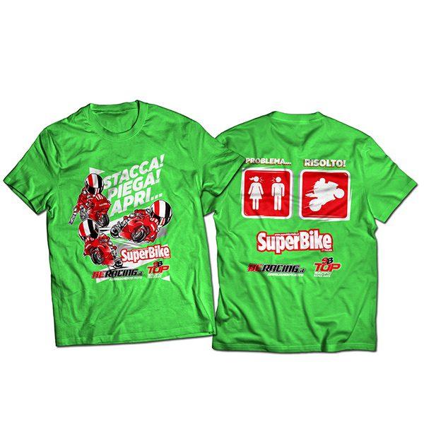 """T-shirt """"Problema... Risolto!"""" verde"""