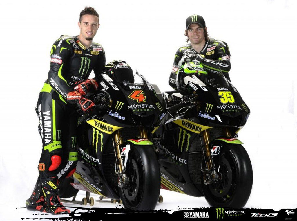 Il Team Monster Yamaha Tech 3 del 2012
