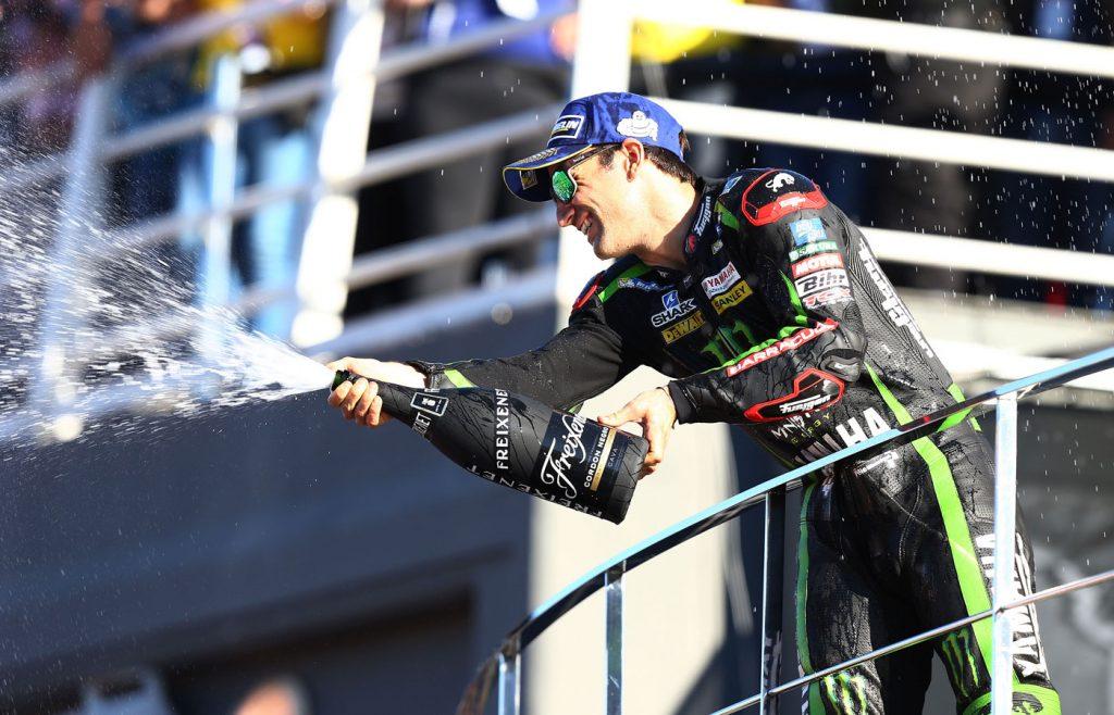 Zarco sul podio di Valencia 2017