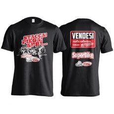 """T-Shirt """"Vendesi ruota anteriore"""" nera"""