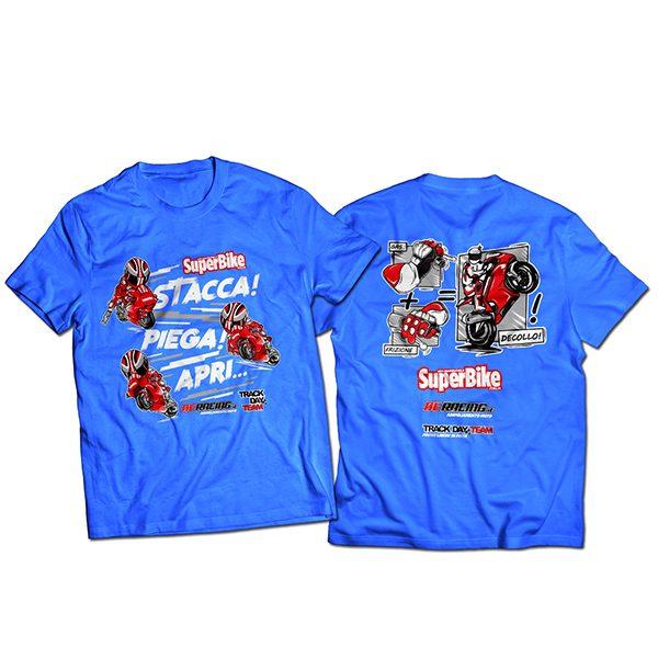 "T-shirt SuperBike Italia ""Decollo!"" blu"