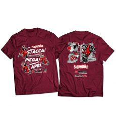 "T-shirt SuperBike Italia ""Decollo!"" bordeaux"