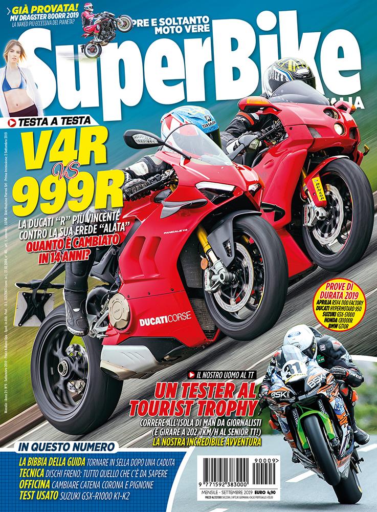 La copertina di SuperBike Italia di settembre 2019